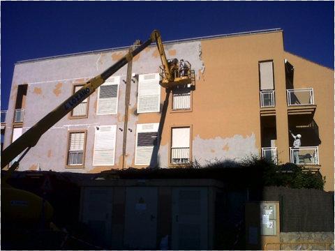 Rehabilitación de fachadas Sevilla- Eliminación de pintura